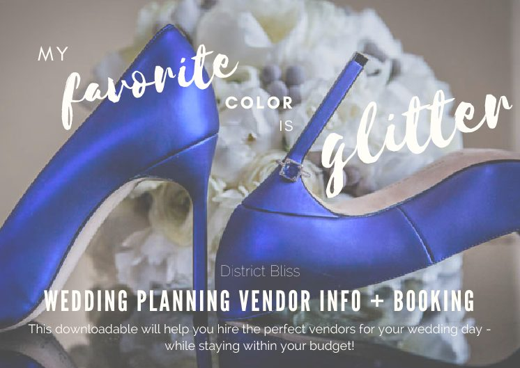 District Bliss Wedding Planning Vendor Booking Information
