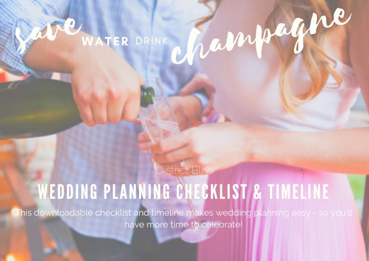 District Bliss Wedding Planning Timeline and Checklist