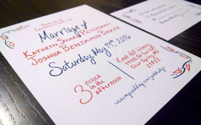 """Sign your letters """"Meekly Yours""""! This talented designer is creating the signage for our DC Vendor Social!"""