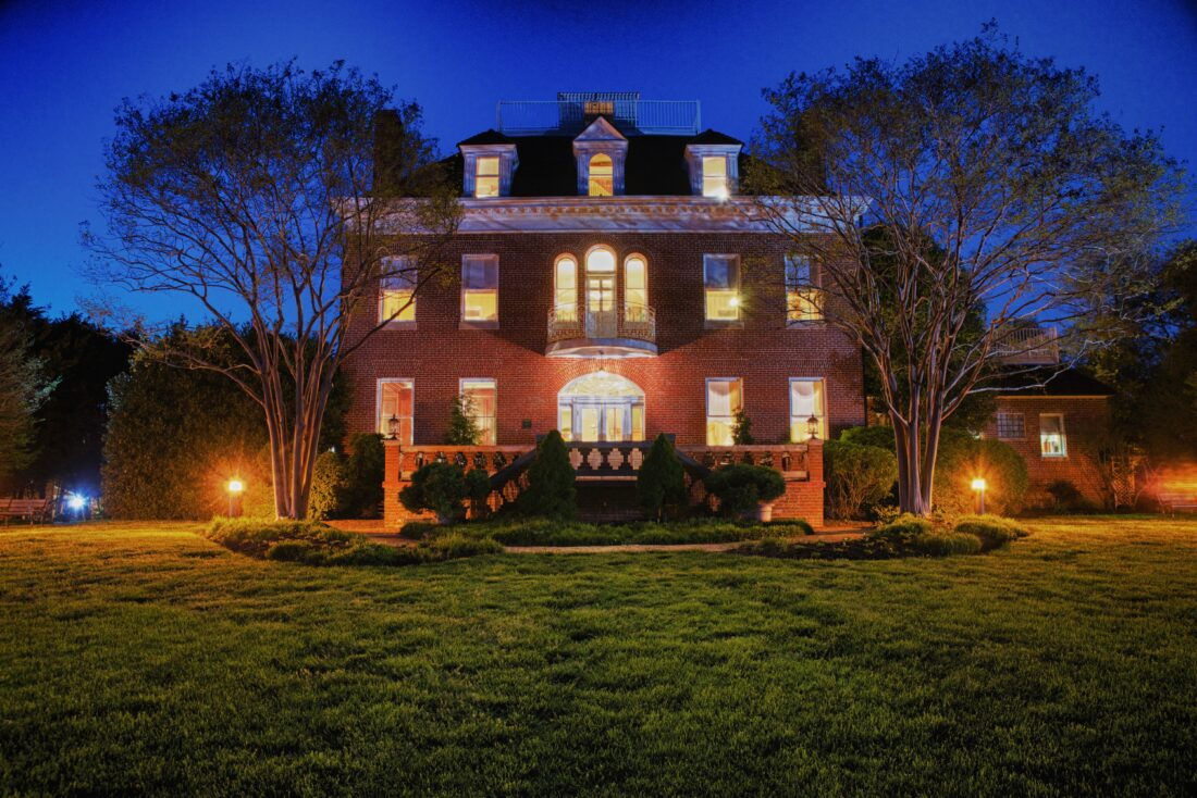 Kentlands Mansion - Night Photo for the City of Gaithersburg