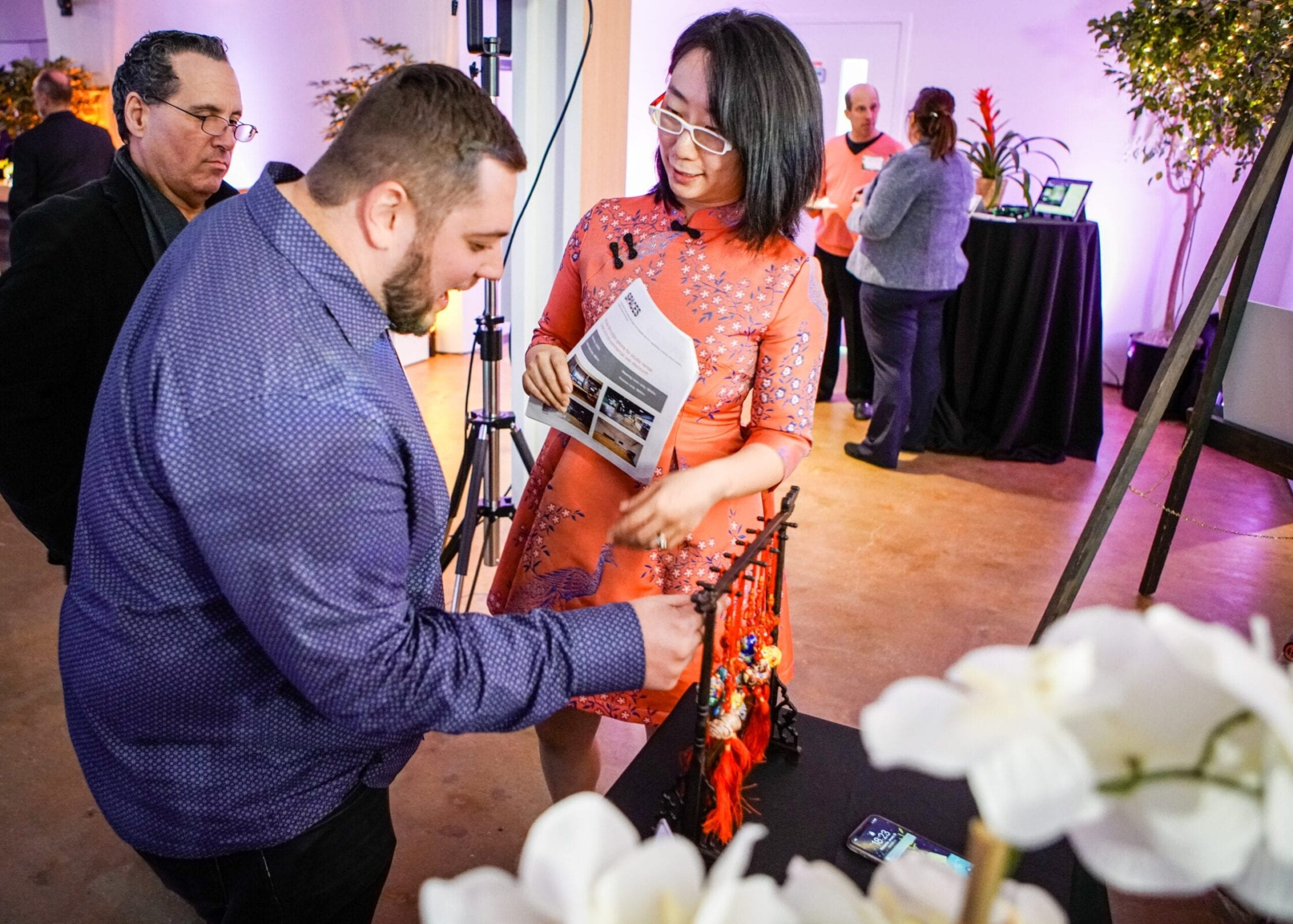 Asian Fusion Gallery shared culture at the District Bliss Vendor Social, a light-hearted, welcoming, casual networking event