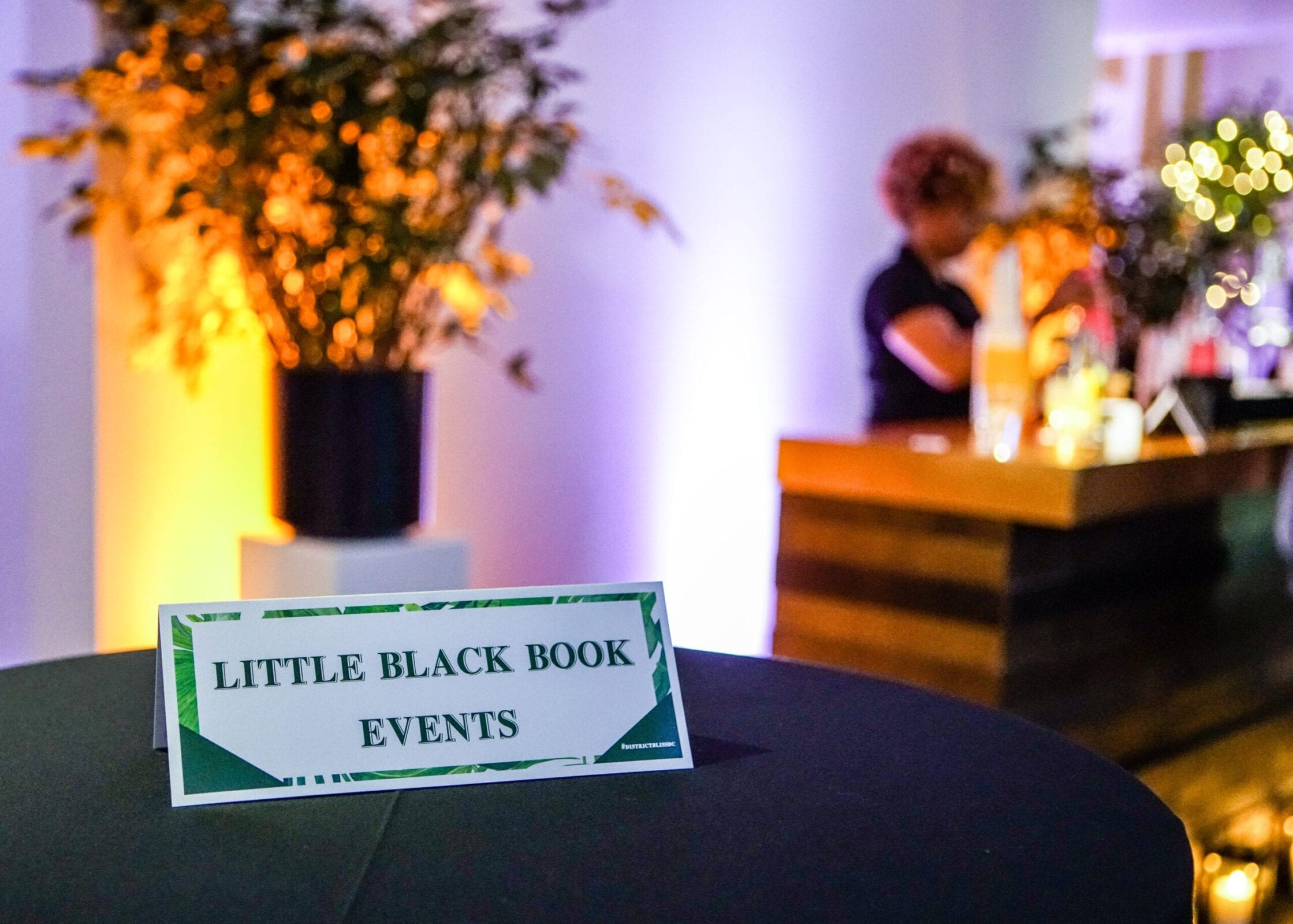 Little Black Book Events created a Concrete Jungle theme for the District Bliss Vendor Social, a light-hearted, welcoming, casual networking event