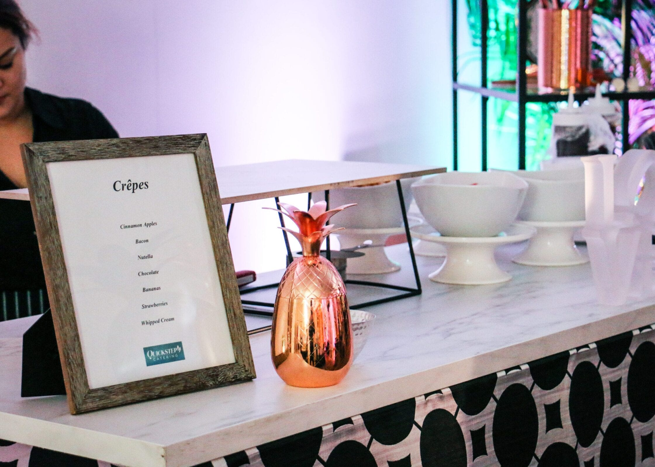 Washington DC catering company Quickstep catered the District Bliss Vendor Social, a light-hearted, welcoming, casual networking event