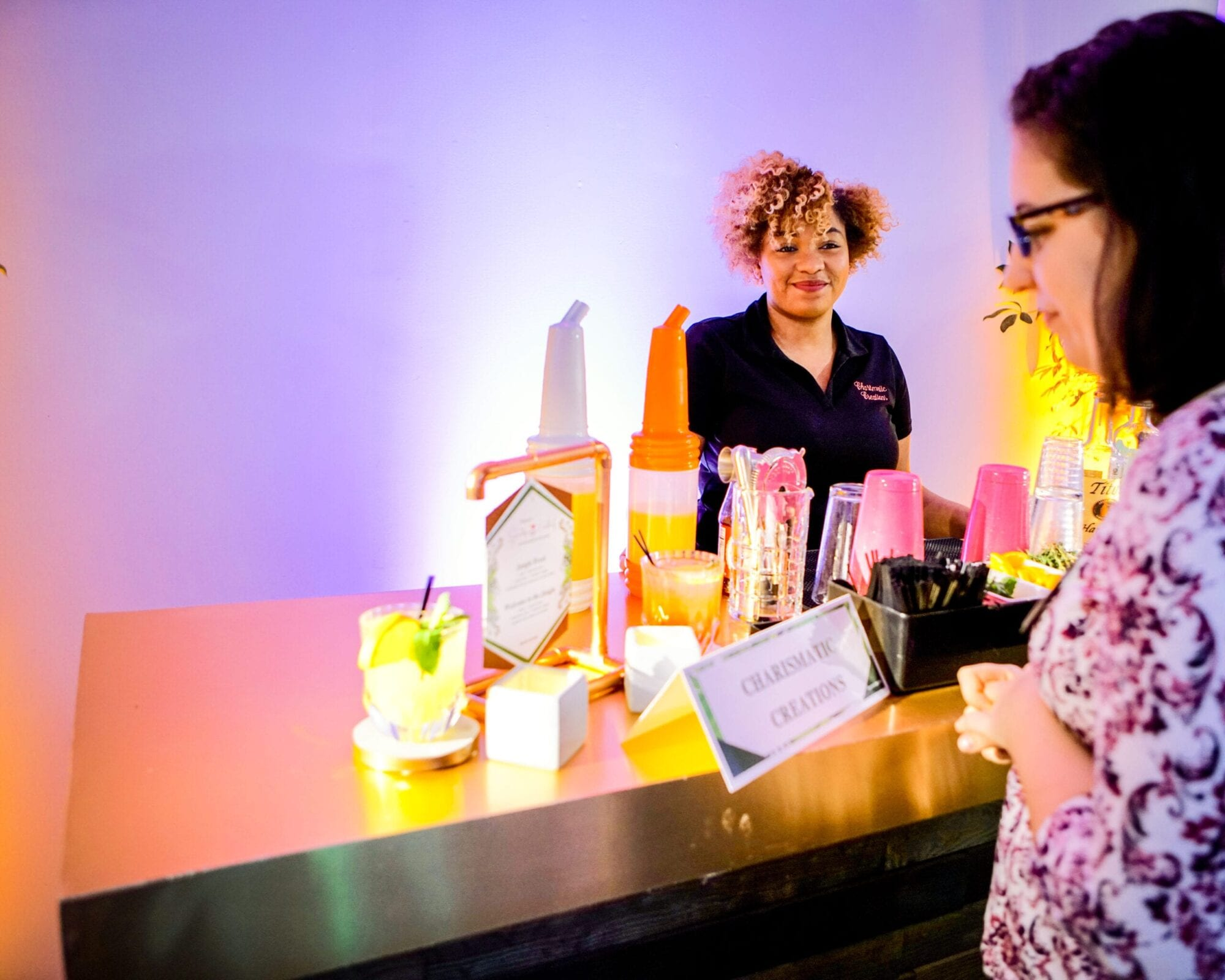 Charismatic Creations created signature cocktails for the District Bliss Vendor Social, a light-hearted, welcoming, casual networking event