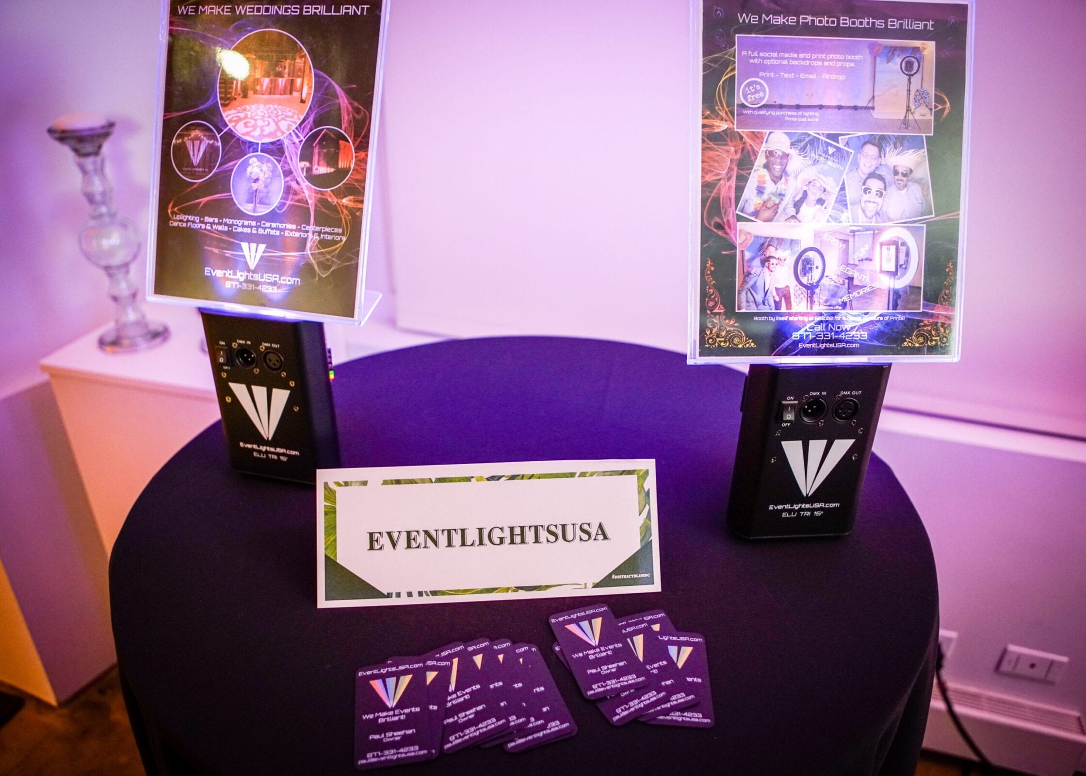 EventLightsUSA created a beautiful space by lighting the District Bliss Vendor Social, a light-hearted, welcoming, casual networking event