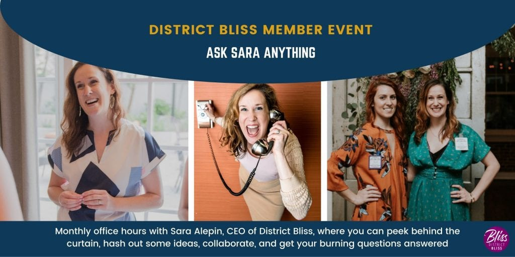 CEO office hours with Sara Alepin, District Bliss