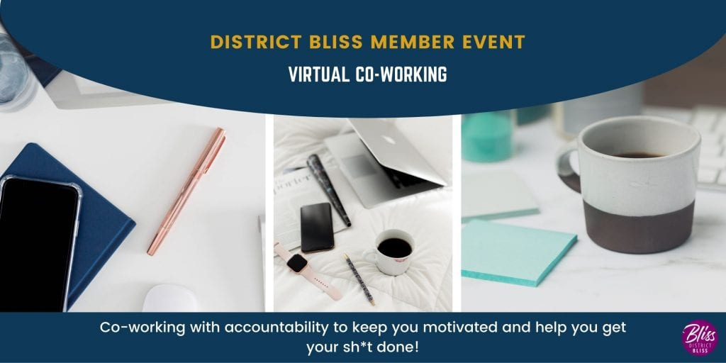 virtual co-working with District Bliss for Entrepreneurs