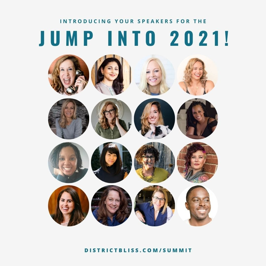 District Bliss Jump into 2021 Summit Speakers