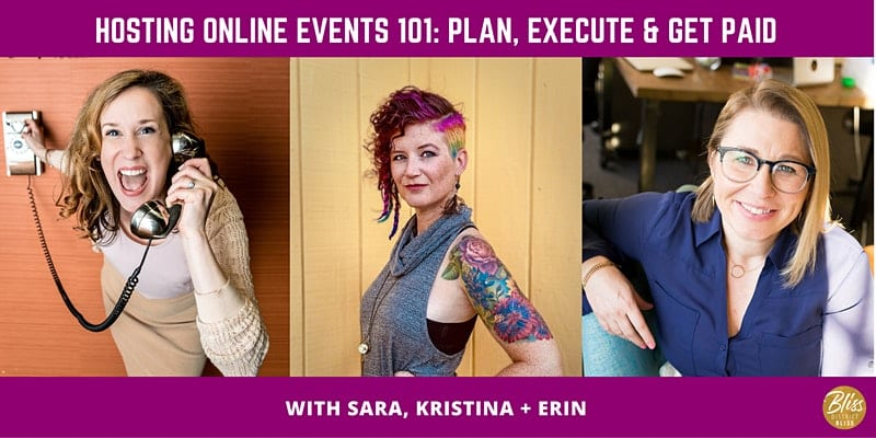 Hosting Online Events 101: Plan, Execute, + Get Paid